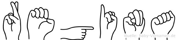 Regina in Fingersprache für Gehörlose