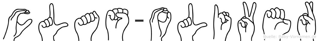 Clas-Oliver im Fingeralphabet der Deutschen Gebärdensprache
