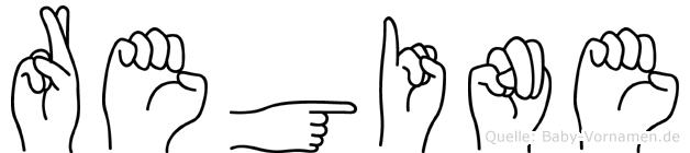 Regine in Fingersprache für Gehörlose