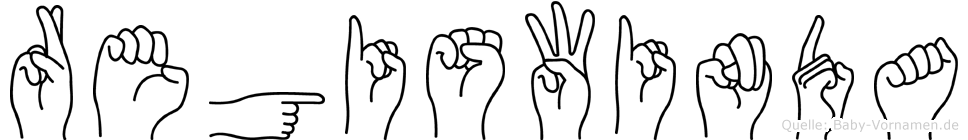 Regiswinda in Fingersprache für Gehörlose