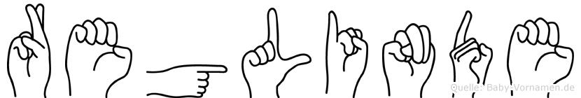 Reglinde in Fingersprache für Gehörlose