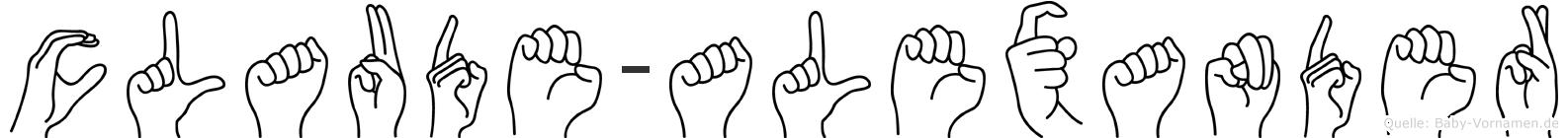 Claude-Alexander im Fingeralphabet der Deutschen Gebärdensprache