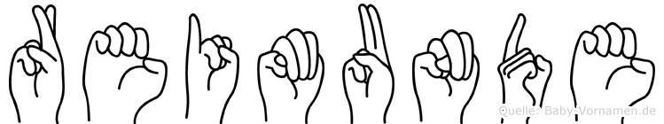 Reimunde in Fingersprache für Gehörlose