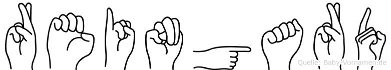 Reingard im Fingeralphabet der Deutschen Gebärdensprache