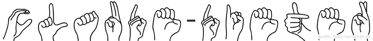 Claude-Dieter im Fingeralphabet der Deutschen Gebärdensprache