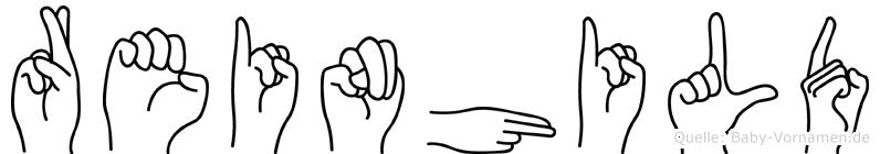 Reinhild in Fingersprache für Gehörlose