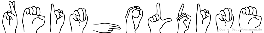 Reinholdine in Fingersprache für Gehörlose
