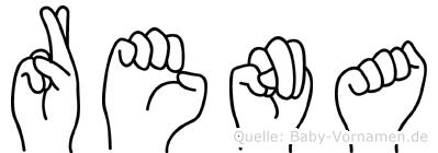 Rena im Fingeralphabet der Deutschen Gebärdensprache