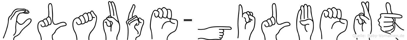 Claude-Gilbert im Fingeralphabet der Deutschen Gebärdensprache