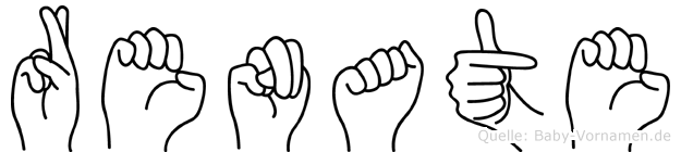 Renate im Fingeralphabet der Deutschen Gebärdensprache