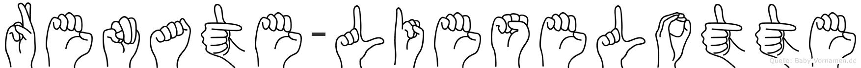 Renate-Lieselotte im Fingeralphabet der Deutschen Gebärdensprache