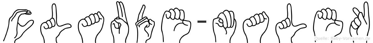 Claude-Malek im Fingeralphabet der Deutschen Gebärdensprache