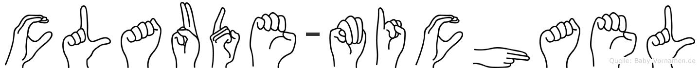 Claude-Michael im Fingeralphabet der Deutschen Gebärdensprache