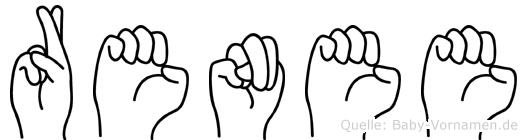 Renee in Fingersprache für Gehörlose