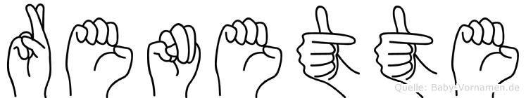 Renette in Fingersprache für Gehörlose