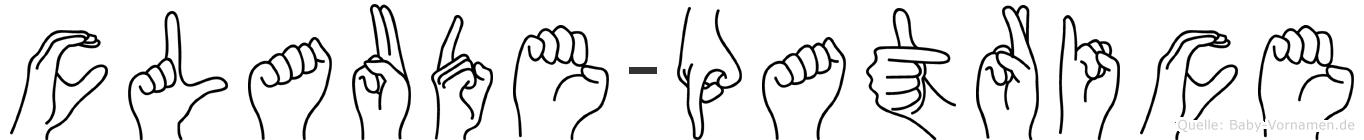 Claude-Patrice im Fingeralphabet der Deutschen Gebärdensprache