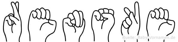 Renske in Fingersprache für Gehörlose