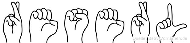 Reserl in Fingersprache für Gehörlose