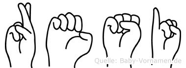 Resi in Fingersprache für Gehörlose