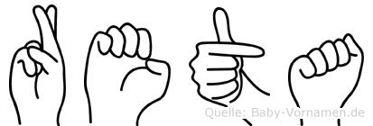 Reta in Fingersprache für Gehörlose
