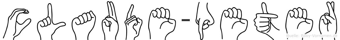 Claude-Peter im Fingeralphabet der Deutschen Gebärdensprache