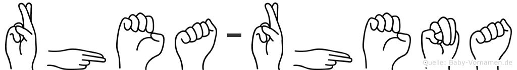 Rhea-Rhena im Fingeralphabet der Deutschen Gebärdensprache