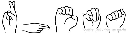Rhena im Fingeralphabet der Deutschen Gebärdensprache