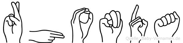 Rhonda in Fingersprache für Gehörlose