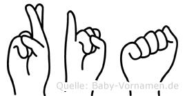 Ria in Fingersprache für Gehörlose