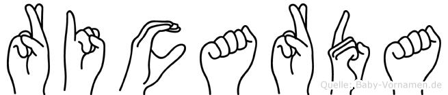 Ricarda im Fingeralphabet der Deutschen Gebärdensprache