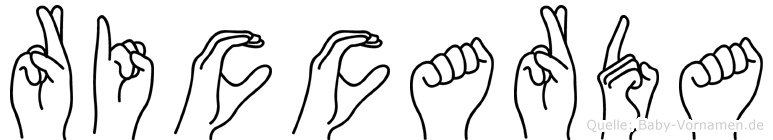 Riccarda im Fingeralphabet der Deutschen Gebärdensprache
