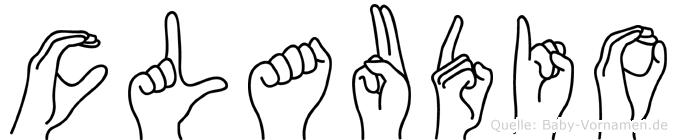 Claudio im Fingeralphabet der Deutschen Gebärdensprache