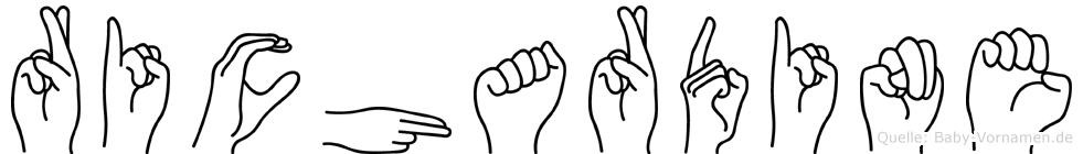 Richardine im Fingeralphabet der Deutschen Gebärdensprache