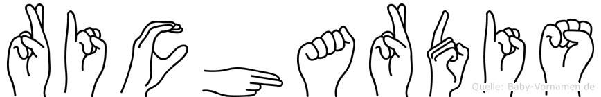 Richardis in Fingersprache für Gehörlose