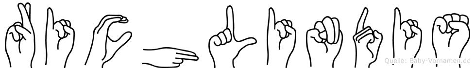 Richlindis in Fingersprache für Gehörlose