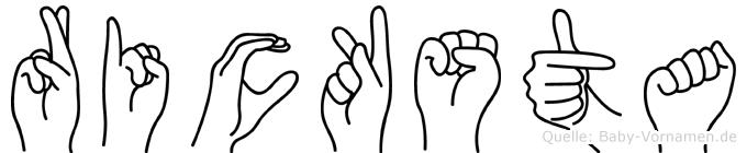 Ricksta in Fingersprache für Gehörlose