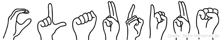 Claudius in Fingersprache für Gehörlose