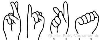 Rika in Fingersprache für Gehörlose