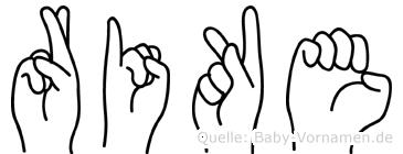 Rike im Fingeralphabet der Deutschen Gebärdensprache