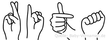 Rita in Fingersprache für Gehörlose