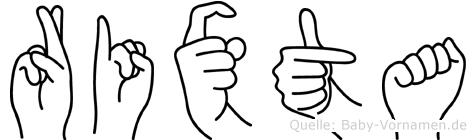 Rixta in Fingersprache für Gehörlose