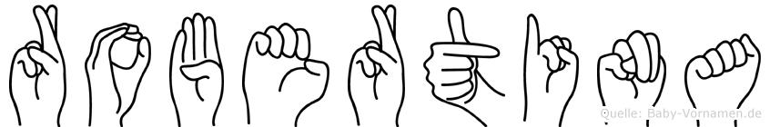Robertina in Fingersprache für Gehörlose