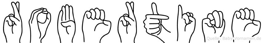 Robertine im Fingeralphabet der Deutschen Gebärdensprache