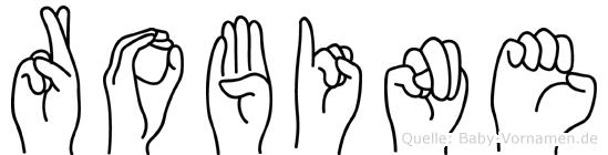 Robine in Fingersprache für Gehörlose