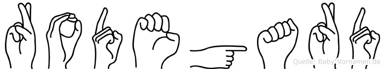 Rodegard im Fingeralphabet der Deutschen Gebärdensprache