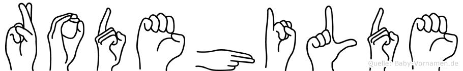 Rodehilde im Fingeralphabet der Deutschen Gebärdensprache