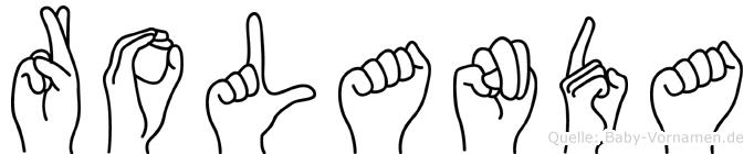 Rolanda im Fingeralphabet der Deutschen Gebärdensprache