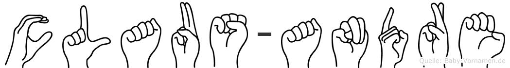Claus-Andre im Fingeralphabet der Deutschen Gebärdensprache