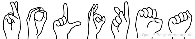 Rolfkea im Fingeralphabet der Deutschen Gebärdensprache