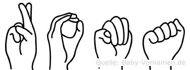 Roma in Fingersprache für Gehörlose